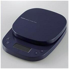 エレコム ELECOM キッチンスケール タイマー付 最大2kg 最小0.1g表示 ネイビー HCS-KS03NV
