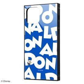 イングレム Ingrem iPhone 12 Pro/12 /『ディズニーキャラクター』/耐衝撃ハイブリッドケース KAKU/『ドナルドダック/I AM』 IQ-DP27K3TB/DD003