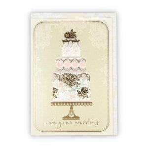 ニホンホールマーク Hallmark 結婚お祝いカードGWEウェディングケーキ 778453