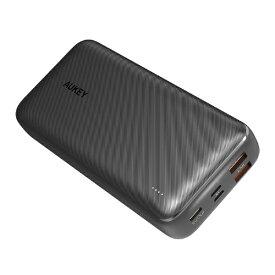 AUKEY オーキー モバイルバッテリー Basix Plus 20000mAh 18W PD対応 出力 ブラック PB-N74S-BK [20000mAh /USB Power Delivery・Quick Charge対応 /3ポート /充電タイプ]
