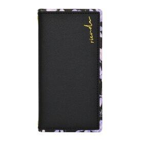 エムディーシー MDC iPhone 12/12 Pro rienda[スクエア手帳/Gentle Flower/ブラック] md-74607-2