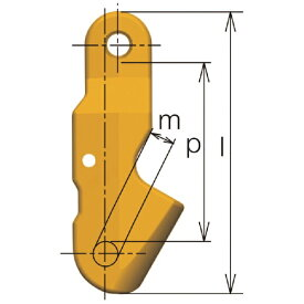 キトー KITO キトー チェンスリング(ピンタイプ)加工部材 ショートニングクラッチVWW 基本使用荷重2.0t VWW08