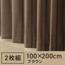東京シンコール TOKYO SINCOL 2枚組 ドレープカーテン ストーム(100×200cm/ブラウン)