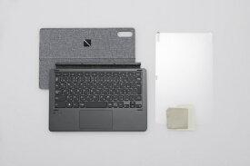 【2021年02月25日発売】 NEC エヌイーシー PC-T1195BAS用 スタンドカバー付きキーボード&画面保護フィルム ブラック PC-AC-AD020C