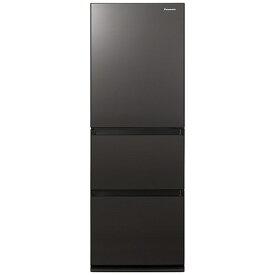 パナソニック Panasonic 冷蔵庫 GCタイプ ダークブラウン NR-C342GC-T [3ドア /右開きタイプ /335L]《基本設置料金セット》
