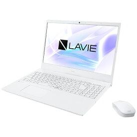 【2021年02月25日発売】 NEC エヌイーシー PC-N1535BZW-2 ノートパソコン LAVIE N15シリーズ パールホワイト [15.6型 /intel Core i3 /SSD:512GB /メモリ:8GB /2021年1月モデル]
