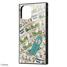 イングレム Ingrem iPhone 12 mini /『ディズニーキャラクター』/耐衝撃ハイブリッドケース KAKU/『ドナルドダック/comic』 IQ-DP26K3TB/DD006