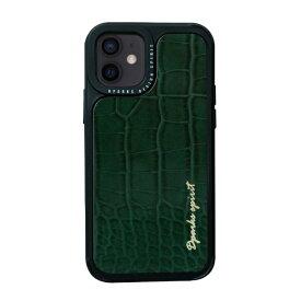 ROA ロア iPhone 12 mini 5.4インチ対応leather Case Green