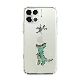ROA ロア iPhone 12 Pro Max 6.7インチ対応ソフトクリアケース はらぺこザウルス グリーン