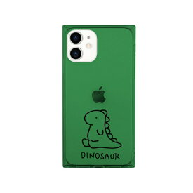 ROA ロア iPhone 12 mini 5.4インチ対応 ソフトスクウェアケース ザウルス グリーン