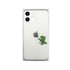 ROA ロア iPhone 12 mini 5.4インチ対応 ソフトスクウェアケース おしごとザウルス—日曜大工 グリーン
