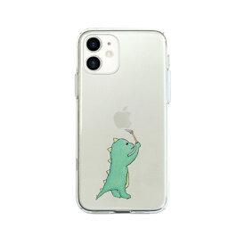 ROA ロア iPhone 12 mini 5.4インチ対応 ソフトクリアケース お絵かきザウルス グリーン