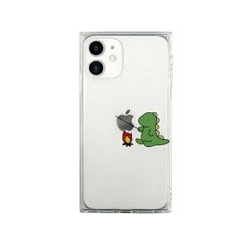 ROA ロア iPhone 12 mini 5.4インチ対応 ソフトスクウェアケース たき火 グリーン