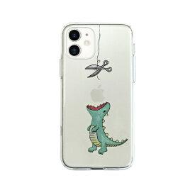 ROA ロア iPhone 12 mini 5.4インチ対応 ソフトクリアケース はらぺこザウルス グリーン