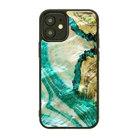 ROA ロア iPhone 12 mini 5.4インチ対応 天然貝ケース Marble Green