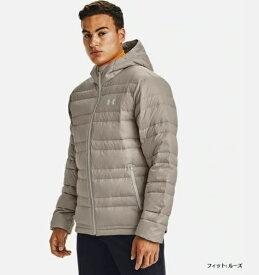 アンダーアーマー UNDER ARMOUR メンズ トレーニングジャケット UAアーマー ダウン フード ジャケット(LGサイズ/Highland Buff×Summit White)1342738 200