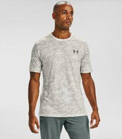 アンダーアーマー UNDER ARMOUR メンズ ルーズフィット Tシャツ UA ABC CAMO SS(MDサイズ/Onyx White×Brown Umber)1357727-112