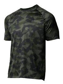 アンダーアーマー UNDER ARMOUR メンズ ルーズフィット Tシャツ UA Tech 2.0 Camo SS(LGサイズ/Baroque Green×White)1361464-310