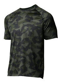 アンダーアーマー UNDER ARMOUR メンズ ルーズフィット Tシャツ UA Tech 2.0 Camo SS(SMサイズ/Baroque Green×White)1361464-310