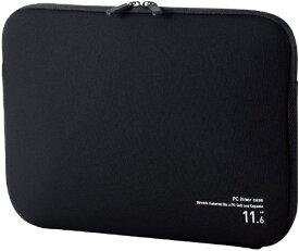 エレコム ELECOM ノートパソコン対応[〜11.6インチ] PCインナーバッグ ネオプレン ブラック BM-IBNP11RBK