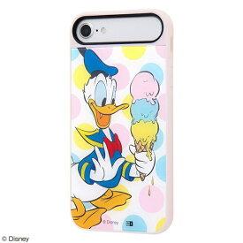 イングレム Ingrem iPhone SE(第2世代)/iPhone 8/iPhone 7/iPhone 6s/iPhone 6 ケース キャトル パネル ドナルドダック/Happy ice cream IQ-DP76PCP/DD006