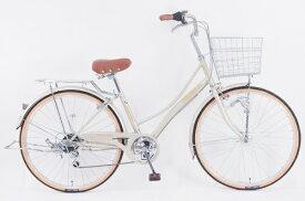 サイモト自転車 SAIMOTO 26型 自転車 レベッツァコリーヌ(エルクベージュ/外装6段変速) FX_W266BK_HD_BAA_C【2021年モデル】【組立商品につき返品不可】 【代金引換配送不可】