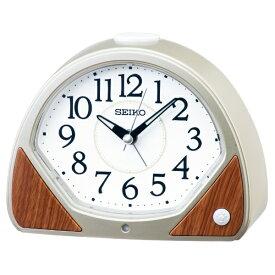 セイコー SEIKO 目覚まし時計 【自動点灯】 薄金色パール KR511G [アナログ]