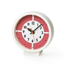 タカタレムノス Lemnos fun pun clock with color! for table レッド YD18-05RE