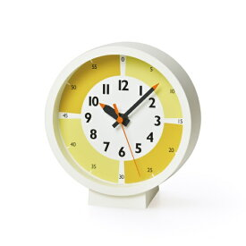 タカタレムノス Lemnos fun pun clock with color! for table イエロー YD18-05YE