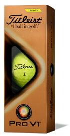 タイトリスト Titleist ゴルフボール TITLEIST PRO V1《1スリーブ(3球)/イエロー・ローナンバー:1・2・3・4》