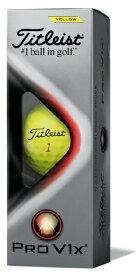 タイトリスト ゴルフボール TITLEIST PRO V1x《1スリーブ(3球)》 イエロー・ローナンバー:1・2・3・4)》