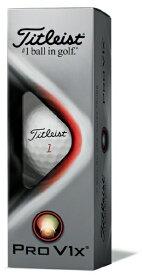 タイトリスト Titleist ゴルフボール TITLEIST PRO V1x《1スリーブ(3球)/ ホワイト・ダブルナンバー:11・33・55・77》