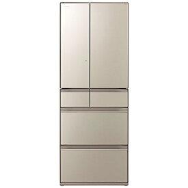 日立 HITACHI 冷蔵庫 HXタイプ ファインシャンパン R-HX60R-XN [6ドア /観音開きタイプ /602L]《基本設置料金セット》
