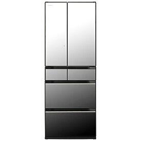 日立 HITACHI 冷蔵庫 HXタイプ クリスタルミラー R-HX54R-X [6ドア /観音開きタイプ /540L]《基本設置料金セット》