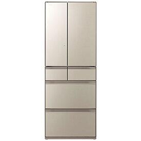 日立 HITACHI 冷蔵庫 ファインシャンパン R-HX54R-XN [6ドア /観音開きタイプ /540L]《基本設置料金セット》