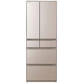 日立 HITACHI 冷蔵庫 HWタイプ クリスタルシャンパン R-HW60R-XN [6ドア /観音開きタイプ /602L]《基本設置料金セット》