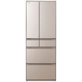 日立 HITACHI 冷蔵庫 HWタイプ クリスタルシャンパン R-HW54R-XN [6ドア /観音開きタイプ /540L]《基本設置料金セット》