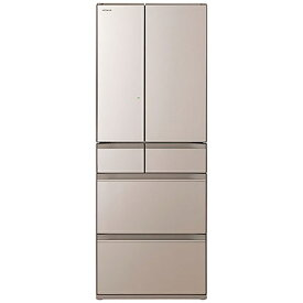 日立 HITACHI 冷蔵庫 クリスタルシャンパン R-HW48R-XN [6ドア /観音開きタイプ /478L]《基本設置料金セット》