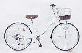 サイモト自転車 SAIMOTO 22型 子供用自転車 ダカラットアンジュ(ホワイト/外装6段変速) JRV_W226BA_HD_BAA_C【2021年モデル】【組立商品につき返品不可】 【代金引換配送不可】