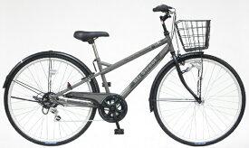アサヒサイクル Asahi Cycle 自転車 ビズストリート マットグレー SNI76S [27インチ /外装6段 /27インチ]【組立商品につき返品不可】 【代金引換配送不可】