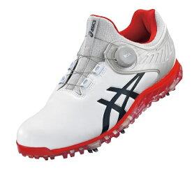アシックス asics 25.5cm 男女兼用ゴルフシューズ ゲルエース プロ 5 ボア ワイズ:3E相当(ホワイト×ピーコート) 1111A180