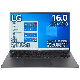 LG 16Z90P-KA55J1 ノートパソコン gram オブシディアンブラック [16.0型 /intel Core i5 /SSD:512GB /メモリ:16GB /2021年2月モデル]