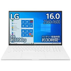 LG 16Z90P-KA54J1 ノートパソコン gram スノーホワイト [16.0型 /intel Core i5 /SSD:512GB /メモリ:8GB /2021年2月モデル]