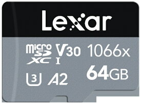 LEXAR microSDXCカード Professional 1066x SILVER シリーズ(UHS-I) LMS1066064G-BNANJ [64GB /Class10]