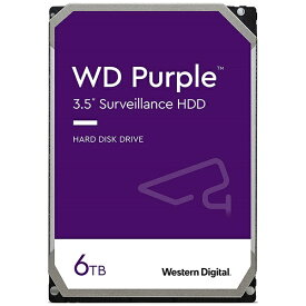WESTERN DIGITAL ウェスタン デジタル WD62PURZ 内蔵HDD SATA接続 WD Purple(Surveillance) [6TB /3.5インチ]