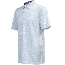 本間ゴルフ HONMA GOLF メンズ シングルジャガード半袖ボタンダウンシャツ(Lサイズ/グレー) 131-733120