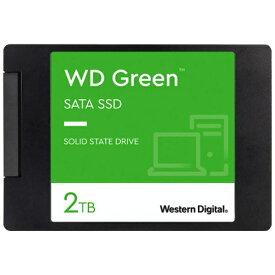 WESTERN DIGITAL ウェスタン デジタル WDS200T2G0A 内蔵SSD SATA接続 WD GREENシリーズ [2.5インチ /2TB]