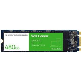 WESTERN DIGITAL ウェスタン デジタル WDS480G2G0B 内蔵SSD SATA接続 WD GREENシリーズ [M.2 /480GB]