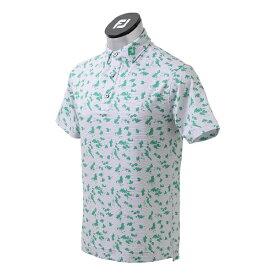 フットジョイ FootJoy メンズ スクリブルプリント ライルシャツ(Lサイズ/グレー) FJ-S21-S05