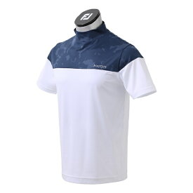 フットジョイ FootJoy メンズ グラフィックモックネックシャツ(Lサイズ/ネイビー) FJ-S21-S17